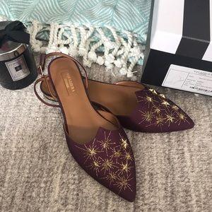 Aquazzura Nairobi Shoes - Brand New, 37.5, Plum